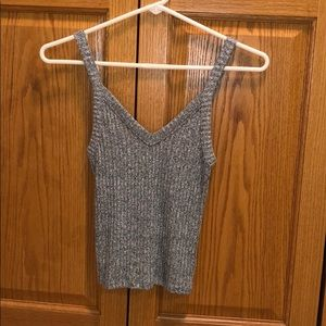 Gray speckled winter tank